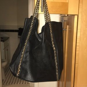 Handbags - Black back with gold metal lining